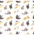 seamless pattern with purebred cats sleeping vector image