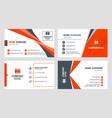 set 4 business card templates flat design vector image vector image