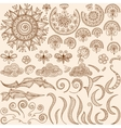 Set Henna mehndi doodle design elements