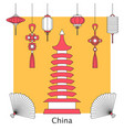 set of chinese and asia symbol vector image vector image