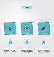 set of day icons flat style symbols with history vector image vector image