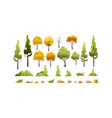 set trees background vector image