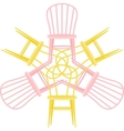 set with chairs vector image