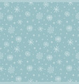 snowflakes seamless pattern - wrapping paper hand vector image