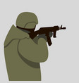soldier with weapon flat vector image