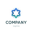 star company logo template modern blue symbol for vector image