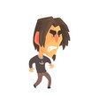 stressed young angry man with aggressive facial vector image vector image