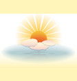 Sunny clouds vector image vector image