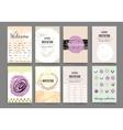 Templates Design Set of Web Mail Brochures vector image