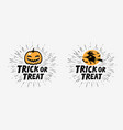 trick or treat greeting card halloween vector image vector image