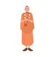 vaishnav or krishnait dressed in traditional vector image