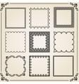 Vintage Set of Square Elements vector image vector image