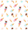 watercolor ice cream pattern vector image vector image