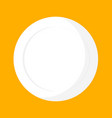 white empty dish top view isolated on yellow vector image