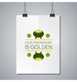 Poster Mockup Template with Lettering Element vector image