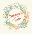 tropical summer frame vector image