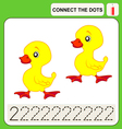 0915 11 connect the dots v vector image vector image
