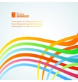 Abstract colorful lines vector image