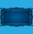 abstract futuristic presentation panel frame vector image vector image