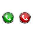 accept and decline call phone call glossy buttons