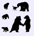 bears silhouette vector image vector image
