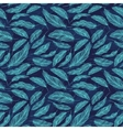 Blue Feather Pattern vector image vector image