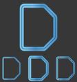 Blue line d logo design set vector image vector image