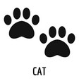 cat step icon simple style vector image