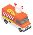 chicken truck icon isometric style vector image vector image