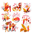 chinese new year symbols feng shui mascots and vector image vector image