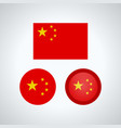chinese trio flags vector image