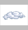 cloud pixel art isolated on white vector image