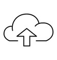 cloud with arrow up thin line icon data vector image vector image