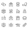 collection monochrome hacker trap icons vector image