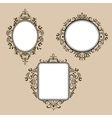 Collection of frames in retro style vector image vector image
