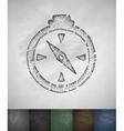 compass icon Hand drawn vector image vector image