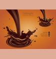 design of chocolate advertising multilayer vector image vector image
