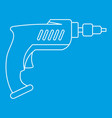 drill icon outline vector image vector image