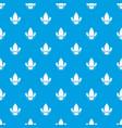 eco vegetarian food pattern seamless blue vector image vector image