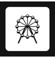 Ferris wheel icon simple style vector image vector image