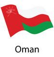 flag of oman vector image