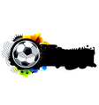 Graffiti image with soccer ball vector image vector image