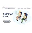 great way fly web landing banner character vector image vector image