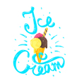 hand drawn calligraphy lettering phrase Ice Cream vector image