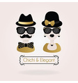 hipster black and golden male and fenale icon vector image vector image