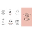 hygge - simple life in danish collection of hand vector image vector image