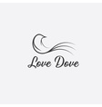 love dove design template vector image vector image