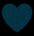 love heart mosaic icon of halftone bubbles vector image