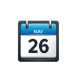 May 26 Calendar icon flat vector image vector image