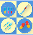 medical icons set of four icons stock vector image